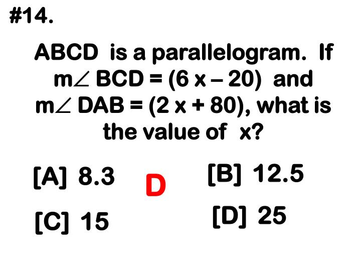ABCD  is a parallelogram.  If