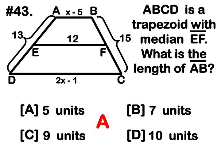ABCD  is a trapezoid with median  EF.  What is the length of AB?