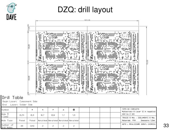 DZQ: drill layout
