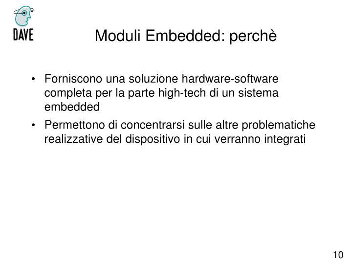 Moduli Embedded: perchè