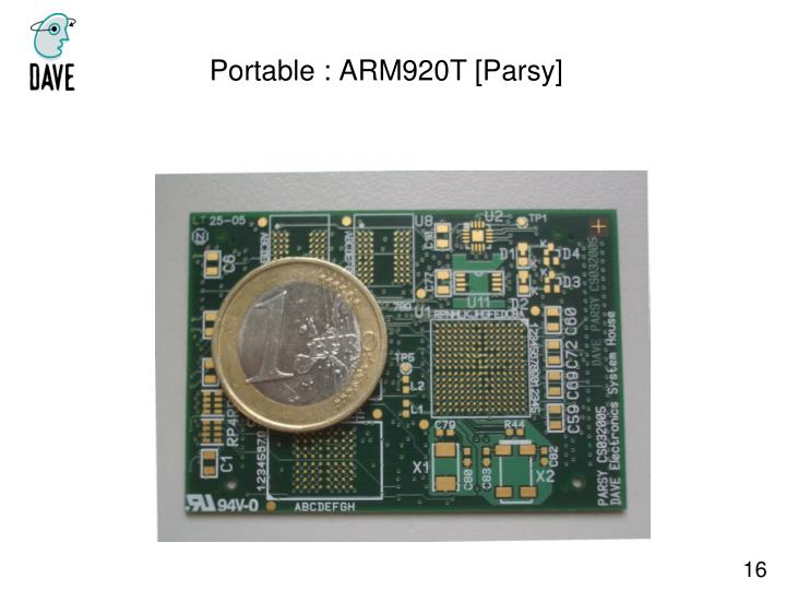 Portable : ARM920T [Parsy]