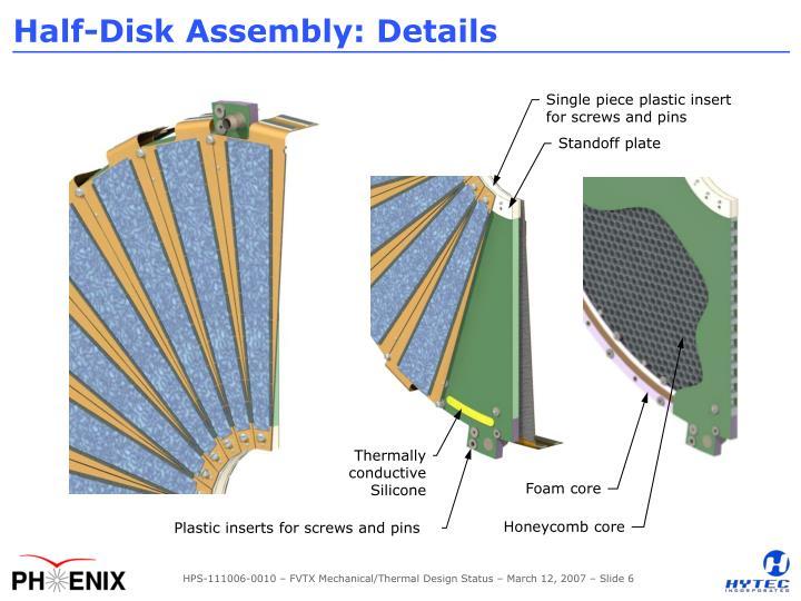 Half-Disk Assembly: Details