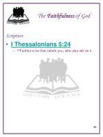 the faithfulness of god5