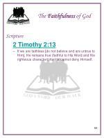 the faithfulness of god9