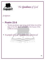 the goodness of god6
