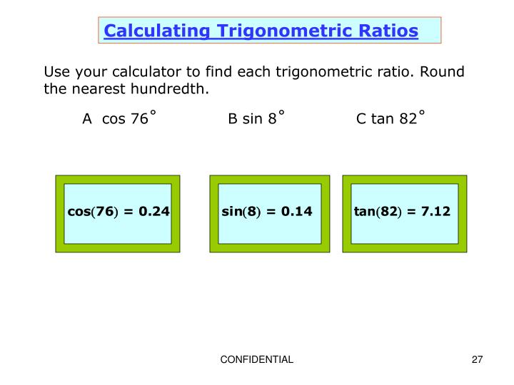 Calculating Trigonometric Ratios