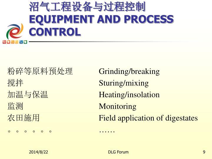 沼气工程设备与过程控制