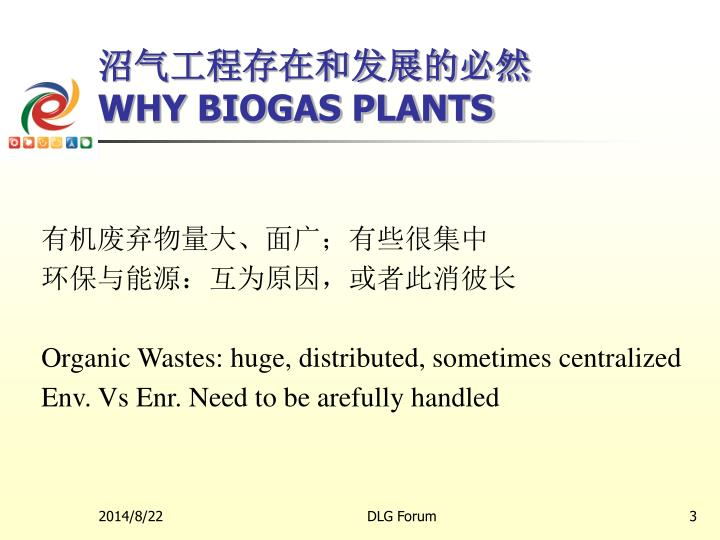 Why biogas plants