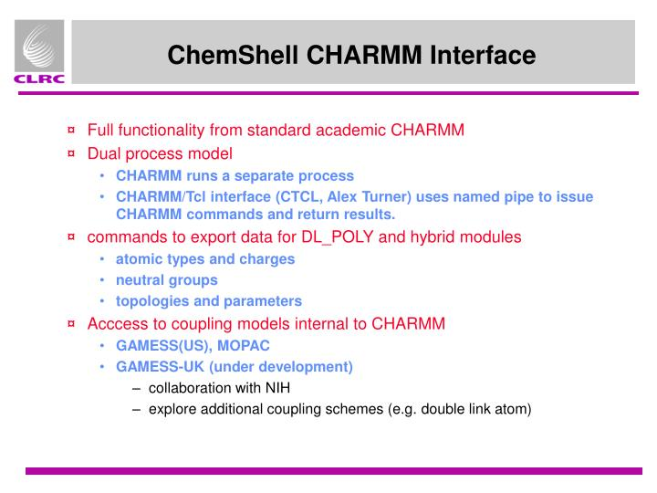 ChemShell CHARMM Interface