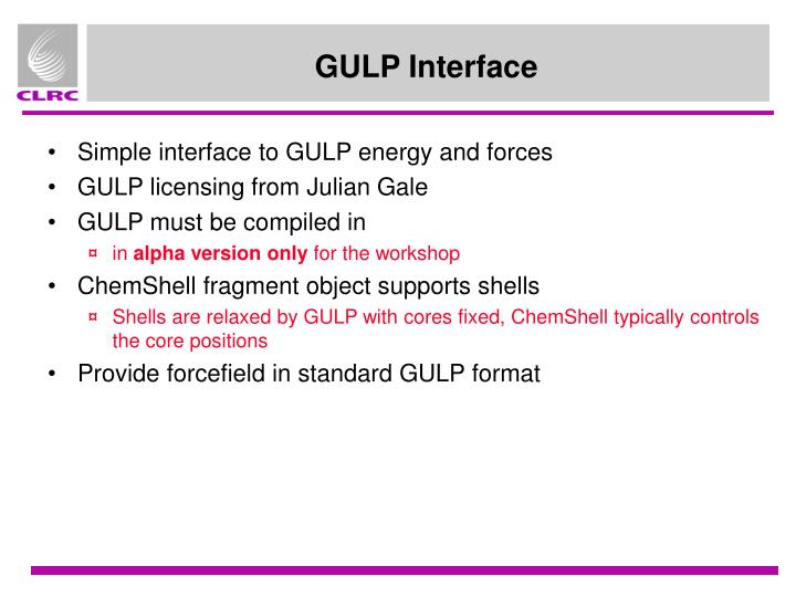 GULP Interface