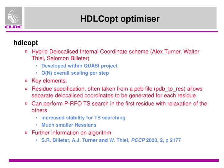 HDLCopt optimiser
