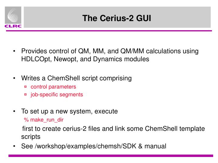 The Cerius-2 GUI