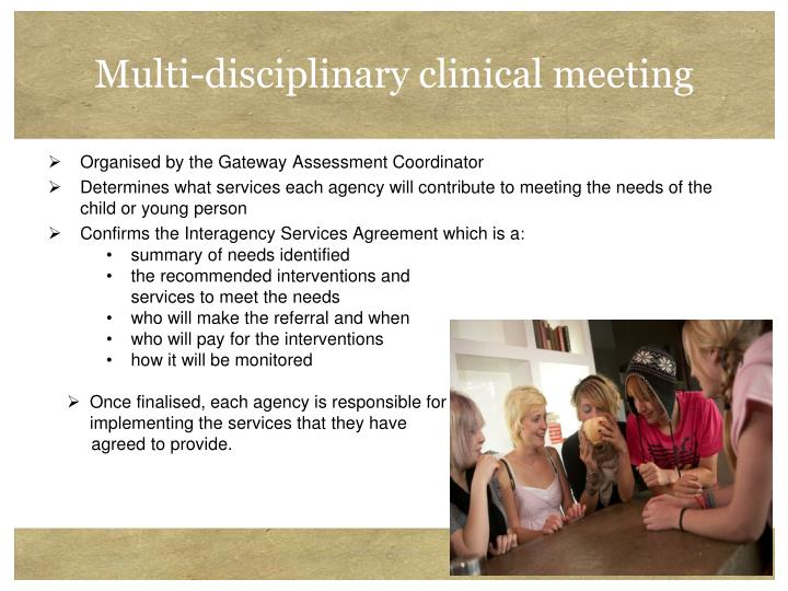 Multi-disciplinary clinical meeting