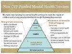 new cyf funded mental health services