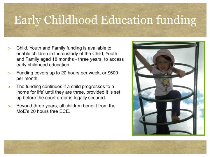 Early Childhood Education funding