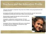 teachers and the education profile