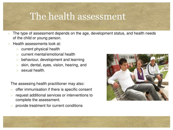The health assessment
