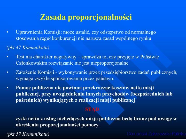 Zasada proporcjonalności