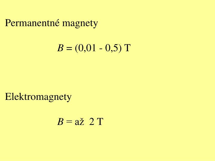 Permanentné magnety