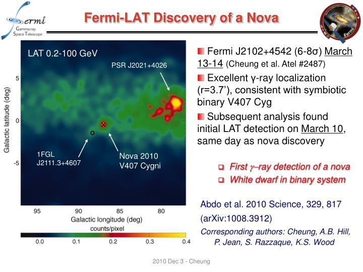 Fermi-LAT Discovery of a Nova