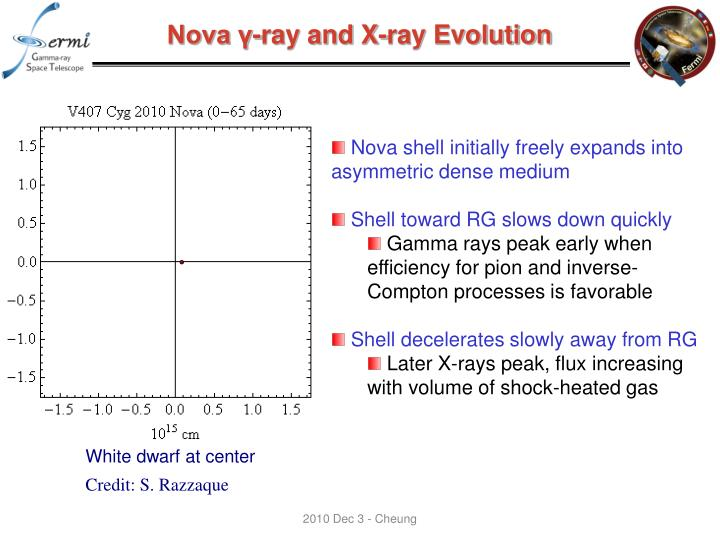 Nova γ-ray and X-ray Evolution