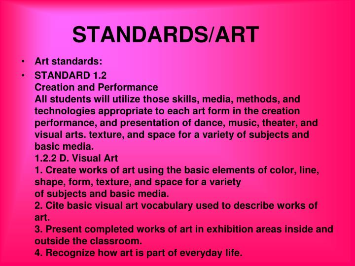 STANDARDS/ART