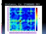 distance c standard dev