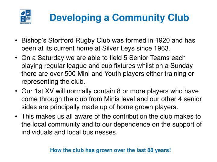 Developing a Community Club
