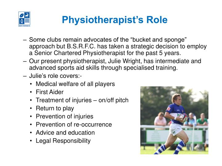 Physiotherapist's Role