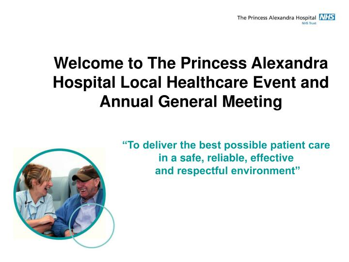 Welcome to The Princess Alexandra Hospital Local Healthcare Event and