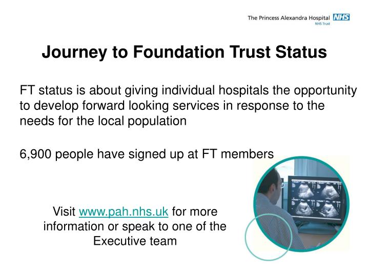 Journey to Foundation Trust Status