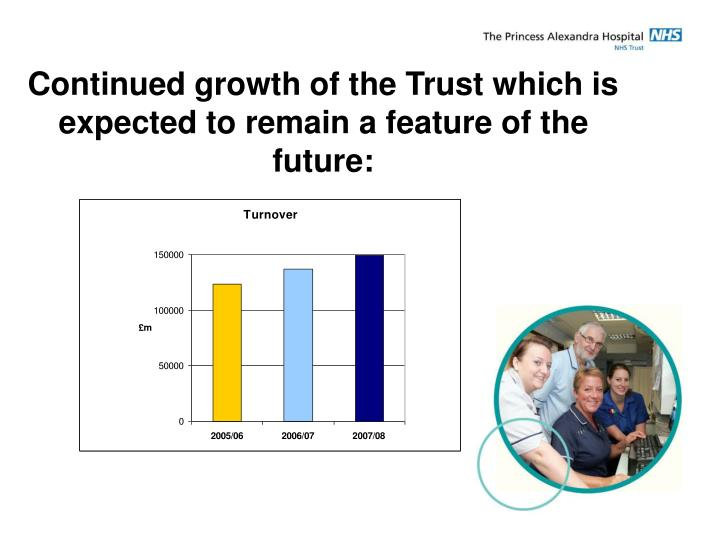 Continued growth of the Trust which is expected to remain a feature of the future: