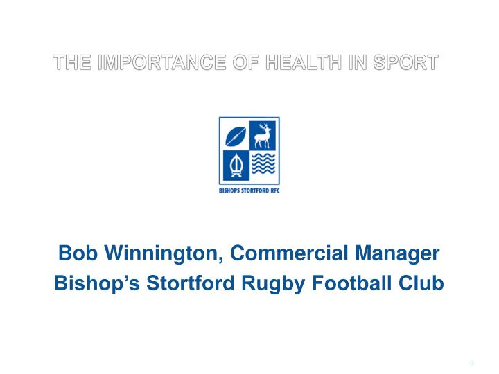THE IMPORTANCE OF HEALTH IN SPORT
