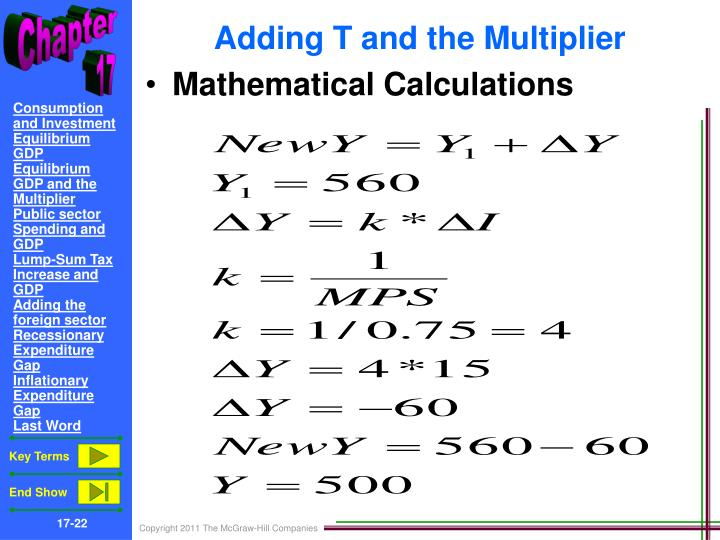 Adding T and the Multiplier
