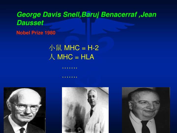 George Davis Snell,Baruj Benacerraf ,Jean Dausset