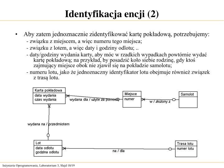 Identyfikacja encji (2)