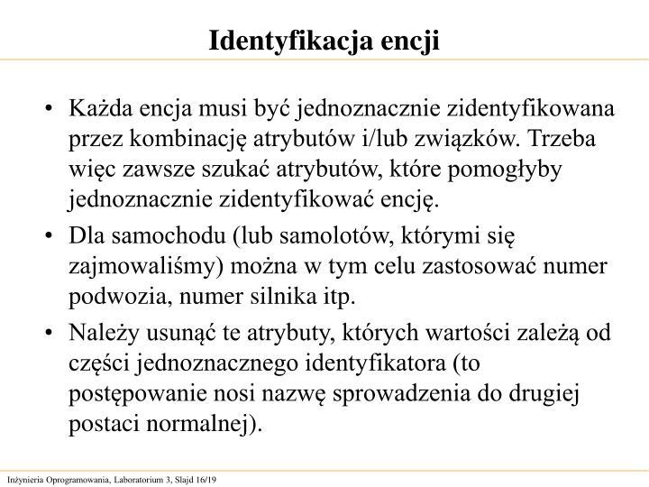 Identyfikacja encji