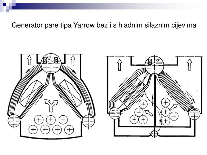 Generator pare tipa Yarrow bez i s hladnim silaznim cijevima