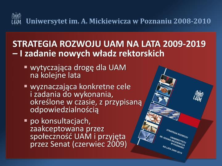 STRATEGIA ROZWOJU UAM NA LATA 2009-2019