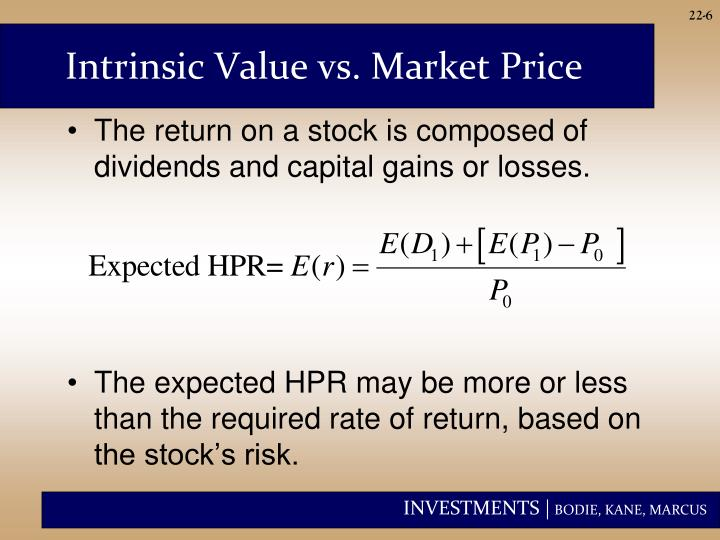 Intrinsic Value vs. Market Price