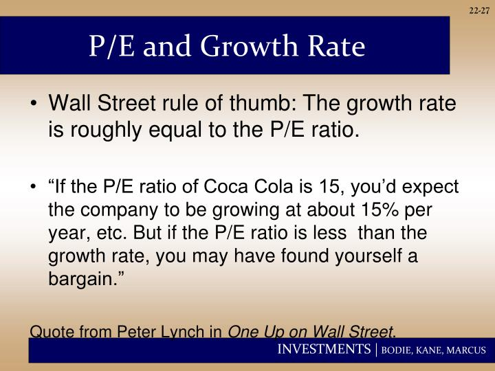P/E and Growth Rate