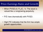 price earnings ratio and growth1