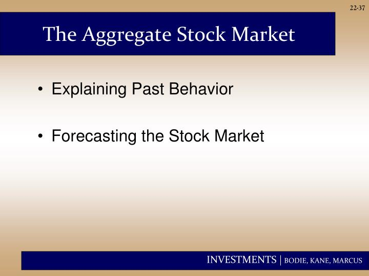 The Aggregate Stock Market