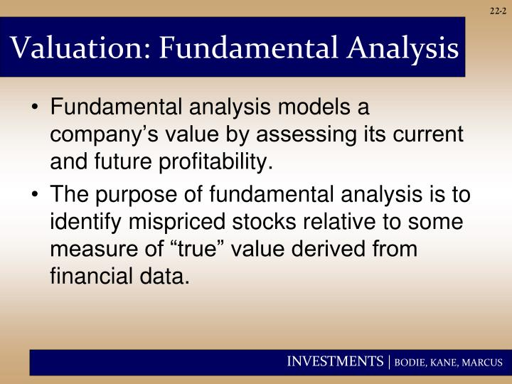 Valuation: Fundamental Analysis