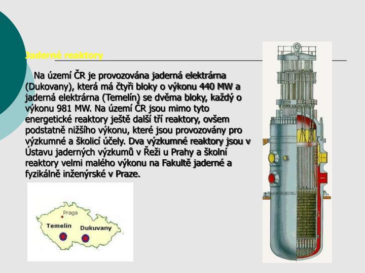 Jadern reaktory