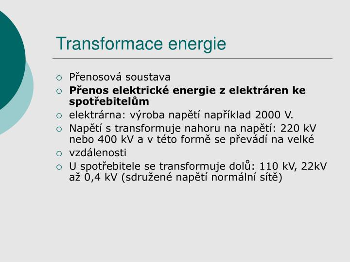 Transformace energie