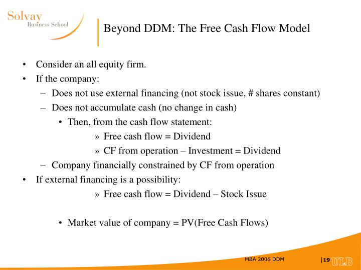 Beyond DDM: The Free Cash Flow Model
