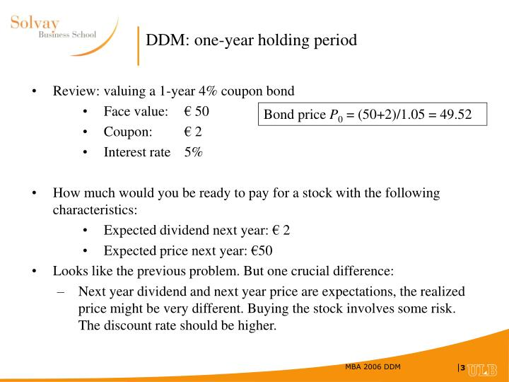 Ddm one year holding period