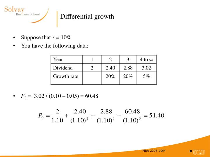 Differential growth