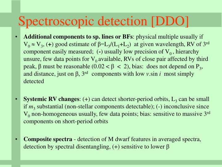 Spectroscopic detection [DDO]